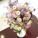 ラウンドブーケ 花ひろ ウェディング オシャレ 新婦 福井 花屋 結婚式 ブライダル 挙式 披露宴 hanahiro