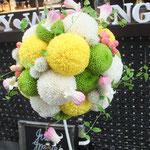 和装 ピンポンマム 和モダン ウェディング ブーケ ブーケ ブライダル 花ひろ 福井 結婚式