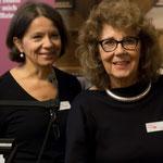 Irène Renz und Valérie Bolliger, die beiden Moderatorinnen des Events