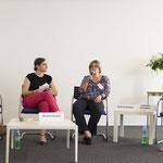 Gesprächsrunde jetzt mit Gabriela Bolliger und Gabriella Di Fabbio (re)