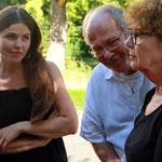 Aite Tinga im Gesrpäch mit Werner und Valérie Bolliger