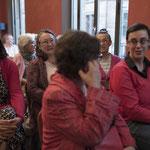 Vor Beginn - drei Grossrätinnen: Elisabeth Ackermann, Beatrice Isler und Tonja Zürcher