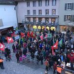 Aarau: Demo von oben