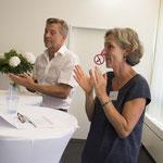 ... Dr. Christian Heering (li) und Barbara Deubelbeiss...