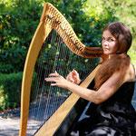 Der ganze Anlass wird von schöner Harfenmusik begleitet.