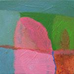 """aus der Serie """"eins - zwei"""" 5, 2016, Acryl auf Leinwand, 20 x 20 cm"""