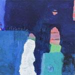 """aus der Serie """"eins - zwei"""" 4, 2016, Acryl auf Leinwand, 20 x 20 cm"""