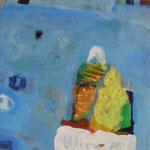 """aus der Serie """"eins - zwei"""" 15, 2016, Acryl auf Leinwand, 20 x 20 cm"""