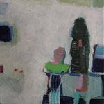 """aus der Serie """"eins - zwei"""" 16, 2016, Acryl auf Leinwand, 20 x 20 cm"""