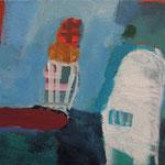 """aus der Serie """"eins - zwei"""" 9, 2016, Acryl auf Leinwand, 20 x 20 cm"""