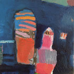 """aus der Serie """"eins - zwei"""" 12, 2016, Acryl auf Leinwand, 20 x 20 cm"""