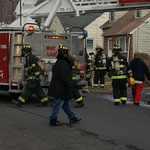Firefighters at Hoe Ave, Scotch Plains