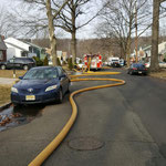 """A long """"stretch"""" was needed to the nearest hydrant"""