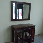 Shesham dresser table,mirror  Rs,22,000, Rs,7,000