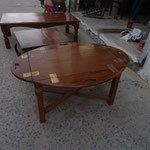 teak folding oval table W105cmD70cmH50cm Rs,25,000