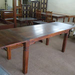 Shesham extention dining table W160cm(w250cm)D80cmH76cm  Rs,27,500