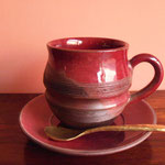 Red Soucer  Rs,270   (Cup+soucer+brass spoon=Rs,640)