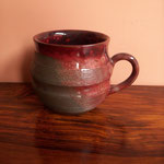 Red terracotta coffee cup Rs,250