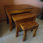 Shesham Nest table W55cmD34cmH47cm Rs,5,000