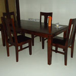 Shesham dining table W6feetD3feetH76cm Rs,20,000 , Chair Rs,4,500