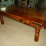 Shesham coffee table w120cmD60cmH45cm Rs,12,000 (repeat item)