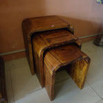 Shesham Nest table W40cmD30cmH45cm Rs,5,000