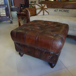 Goat leather ottoman W80cmD80cmH45cm Rs,18,000  (Sold)