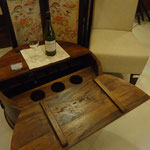 Shesham round wine box table W75cmD75cmH36cm Rs,19,000