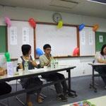 学生がパネリストとなって活動の話をしてくれました。