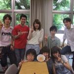 この日は5月の誕生日のメンバーのお祝いをしました。シュークリームが可愛くなくてごめんね(笑)