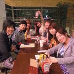 イベントで会った学生の他団体の方々と一緒にご飯に行きました!