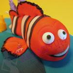 Modellierung Nemo Fondant - Tauftorte