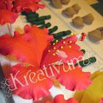 Der Trick mit dem Bepudern - Hibiskusblüten aus Blütenpaste