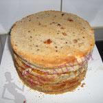 Torten richtig stapeln - Torte backen und füllen
