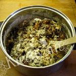 Früchte Kuchen für Fondant Torten - Mehl hinzufügen