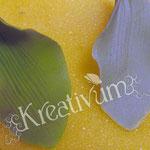 Der Trick mit dem Bepudern - Blätter aus Blütenpaste