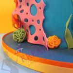 Modellierung Unterwasserdeko Fondant - Tauftorte