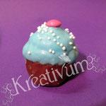 Cake Balls – Anleitung Muffins - hell blau