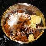 Früchte Kuchen für Fondant Torten - mit Butter, Zucker und Wasser