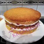 Himbeer Masrapone Torte füllen