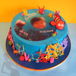 Nemo Unterwasser Tauftorte Fondant