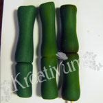 Der Trick mit dem Bepudern - Bambus aus Modellierfondant