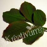 Draht in Blätter aus Blütenpaste - Rosenblätter