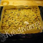 Früchte Kuchen für Fondant Torten - in eckige Form füllen