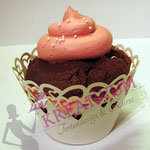 Cupcake - Schoko Muffin mit Himbeer Buttercreme Topping