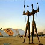 Skulptur 'die Krieger' in Brasilia