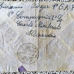1° compagnia 2° sca. Cassale Manferrato Alessandria lettera militare