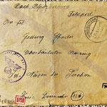 geöffnete Feldpost 1944