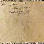 geöffneter Feldpost Umschlag WWII