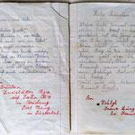 Blumen und Welle Gedicht und Liebesbrief + lettera d'amore e poesia + love letters